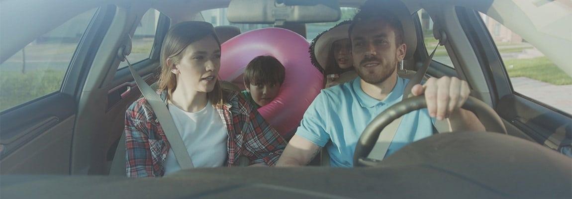נסיעה עם הילדים באוטו